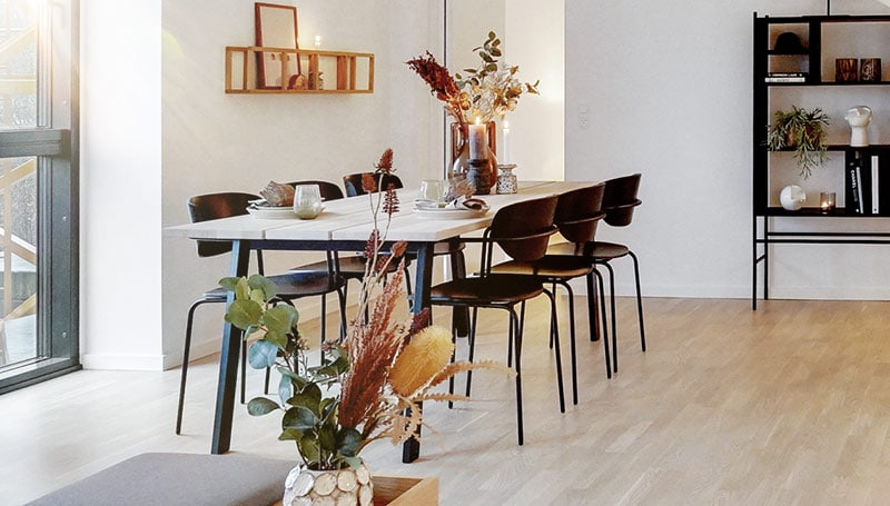 spisebord i spisestue