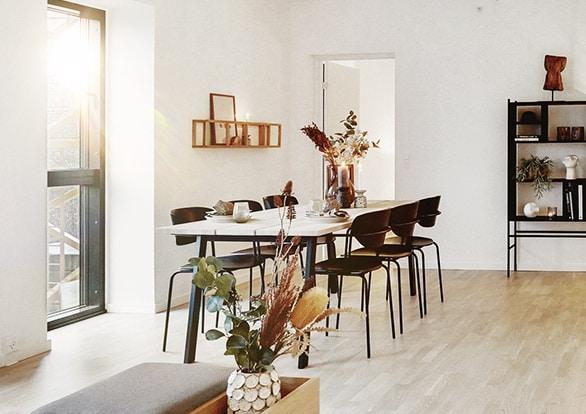 spisestue i lejlighed