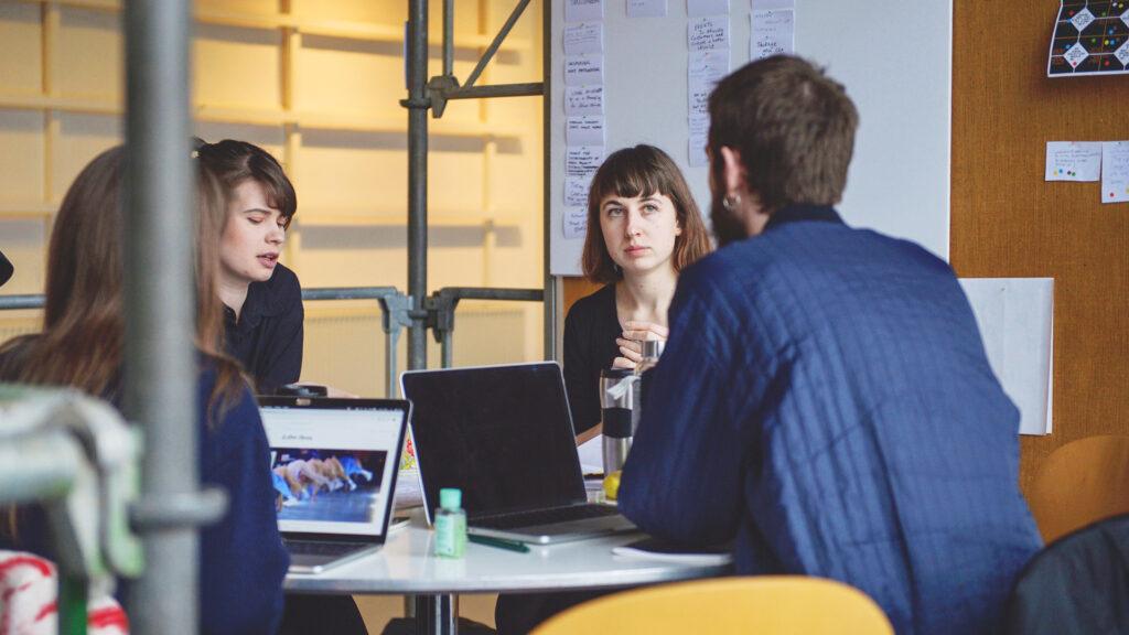 Studiegruppe på Kolding Designskole